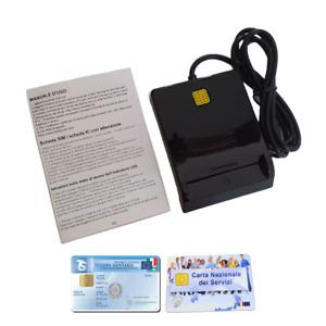 Lettore Smart Card - CNS, Tessera Sanitaria, SPID Firma Digitale, Carte con chip