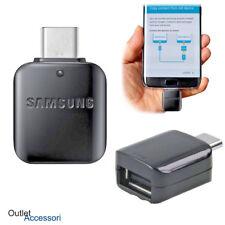 Adattatore OTG ORIGINALE Samsung TYPE-C Tipo Presa USB Galaxy S8 Plus S9 Note 8