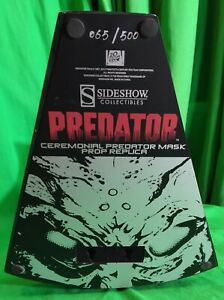 Ceremonial Predator Mask Prop Replica by Sideshow Collectibles Exclusive #65/500