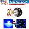 20Pcs Blue 2SMD LED T3 Neo Wedge Cluster Panel Climate Heater Light Lamps Bulb