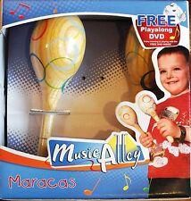 WOODEN MARACAS SET & PLAY ALONG DVD. NEW. UK DISPATCH
