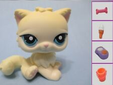 Littlest Pet Shop Cat Persian Cream 428 and Free Accessory Authentic