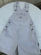 Vintage 90's Lee Tan Boyfriend Style Overalls Shorts Size M L Made In USA
