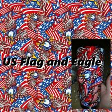 "Dipping Hydrographics Film Water Transfer Printing  FLAG 19x80"" gold US EAGLE"