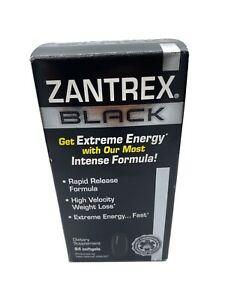 Zantrex Black Rapid Release Soft-gels 84 Count Exp. 4/21 And Up