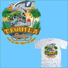 *  T-Shirt Hai Shark Tequila Surfer Party Beachclub  Karibik  *3019