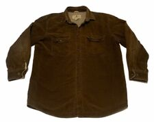 Vintage Woolrich Fleece Lined Brown Corduroy Work Shirt Chore Jacket LARGE