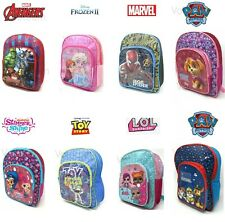 Boys Girls Kids Backpack Junior Toddlers Deluxe Character Rucksack School Bag UK