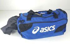 Large Asics Gear Duffel Bag Volleyball Tennis Blue White 24x14x12