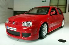 LGB 1:24 Scale VW Golf GTI Mark 4 IV R32 V6 31290 Red Maisto Detailed Model R-32