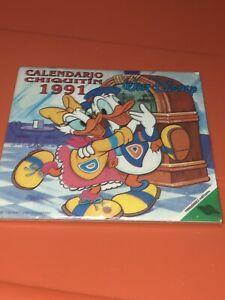 VTG Walt Disney 1991 Calendar Calendario Chiquitin Fernandez Editores Mexico MIP