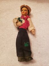 """Vintage Old 9"""" Doll Antique Beautiful Painted Face Boy Collectable Toy Rare Wow"""