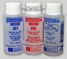 Microscale MICRO SET, SOL & DECAL FILM 3-Bottle Combo - Advanced Modeling Supply
