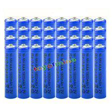 32x AAA 1800mAh pile 1.2V Ni-MH rechargeable batterie 3A bleu pour MP3 Jouets RC