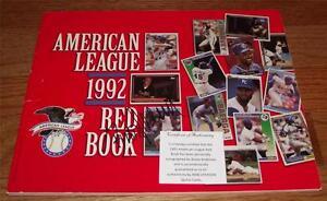Brady Anderson Baltimore Orioles Autograph 1992 American League Red Book COA JB2