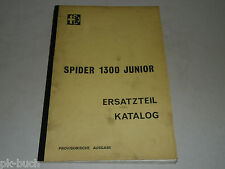 Teilekatalog Ersatzteilkatalog Alfa Romeo Spider 1300 Junior, Stand 07/1968