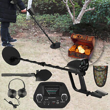 High Sensitivity Metal Detector Gold Digger Waterproof + Shovel + Headphone E0W2