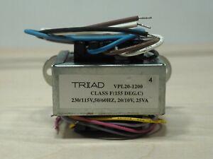 Triad Magnetics VPL20-1200 Power Transformer Dual 230v 115v 20/10v 25va F