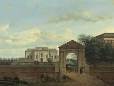 JAN VAN DER HEYDEN DUTCH ARCHITECTURAL FANTASY OLD ART PAINTING POSTER BB5797A