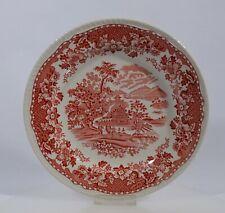 Woods Burslem Seaforth in rot Speiseteller Teller Dm 25,2 cm Keramik England