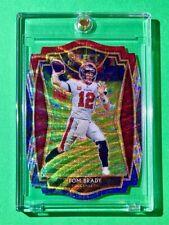 Tom Brady RED WHITE & BLUE WAVE DIECUT PRIZM PANINI SELECT PREMIER LEVEL - Mint!