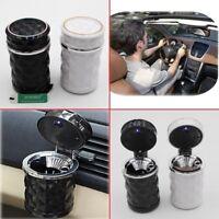 Black Car Portable Ashtray for Auto Cup Holder Travel Cigarette Smoke Remover