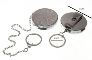 Recoil Spring Retractable Key Ring Cp 450mm Chain + Belt Clip Pack Of 10