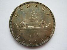 Canada 1962 silver Dollar GVF uneven toning