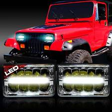 2x LED Headlight Headlamp Upgrade for Jeep Wrangler YJ 1987-1995