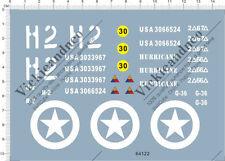 Detail 1/16 1/18 US Army WWII usa sherman tank h2 Model Kit Water Decal 64122