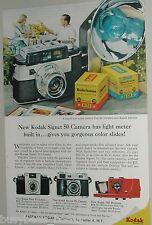 1958 Kodak advertisement, Eastman Kodak Signet 50 Camera, Kodachrome