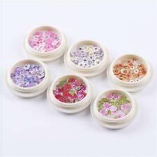 1Box Flower Nail Art Sequins Glitter Manicure Decor 3D Design Slices Supply Gift