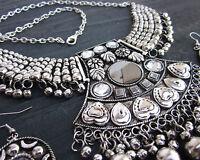 Tribal Bib Necklace Choker Handcrafted Ethinc Kuchi Traditional Fashion Jewelry