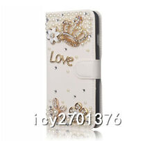 Handmade Magnetic Bling Luxury Diamonds Crystal Leather wallet flip Cover Case C