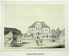 TRAUTZSCHEN (ELSTERTREBNITZ) - Rittergut Trautzschen - Poenicke - Litho 1860