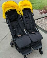 Mountain Buggy Nano Duo Double Stroller In Cyber. Yellow Canopy. See Description