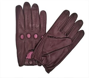 MEN'S REAL LAMBSKIN SHEEP NAPPA LEATHER CAR DRIVING GLOVES PREMUIUM QUALITY,
