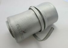 Swarovski Crystal promotional item, travel jewelry roll in silver faux leather