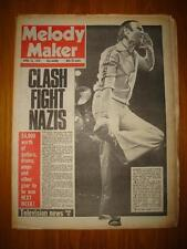 MELODY MAKER 1978 APR 15 GENESIS CLASH TELEVISION TUBES