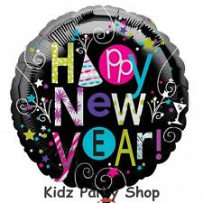 """New Year Party - 18"""" Happy New Year Foil Balloon - Free Post in UK"""