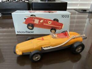 Schuco Yellow Vintage Watson Renner 1005 Micro-Racer W. Germany W/ Original Box