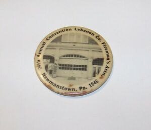 1946 ANTIQUE 24TH ANNUAL LEBANON COUNTY NEWMANSTOWN PA CELLULOID POCKET MIRROR