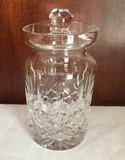 "Galway Irish Crystal Clifden Jelly Jam Lidded 4 1/2 "" Jar"
