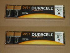 12 Pcs. NEW 9 Volt 9V 9 V Duracell Coppertop Batteries Exp 2020 RETAIL PACKAGING