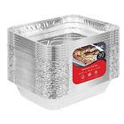 bandejas charolas de aluminio desechables para comida bodas fiestas 9x13 30 pcs