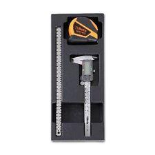 Beta Tools 2424T296 3pc Measuring Tool Vernier Caliper Alloy Ruller Tape Measure