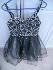Mori Lee Girls Ladies  Evening Ball Gown Prom Dress Black Sequins size 5 / 6