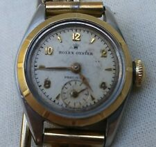 VTG 1949/50 ROLEX OYSTER PERCISION LADIES WATCH 14K GOLD CASE 5001 624300