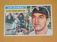 VINTAGE OLD 1950S BASEBALL 1956 TOPPS CARD JIM RIVERA CHICAGO WHITE SOX