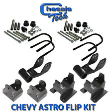 "85-05 ASTRO DROP AXLE FLIP KIT 4 Ubolts, 2 3-1/2"" Shackles Mono Single-leaf only"